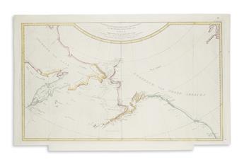 COOK, CAPTAIN JAMES (after). Kaart van de Noord-West Kust van Amerika en de Noord-Oost Kust van Asia.