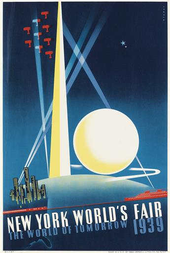 JOSEPH BINDER (1898-1972) & ALBERT STAEHLE (1899-1974). NEW YORK WORLDS FAIR. Two posters. 1939. Each 19x13 inches, 49x33 cm. Grinnell