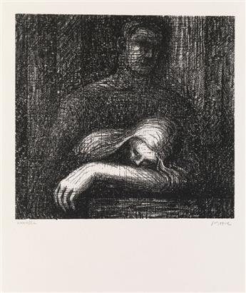 (MOORE, HENRY.) Auden, W. H. Auden Poems: Moore Lithographs.