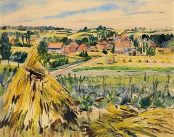 LOÏS MAILOU JONES (1905 - 1998) La Moisson à Thérouanne (Pas-de-Calais).