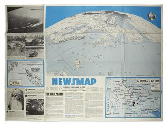 (WORLD WAR II.) Bureau of Public Relations, War Department. Large collection of Newsmap issues.