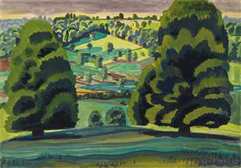 CHARLES BURCHFIELD Summer Landscape (Trees on a Hill).