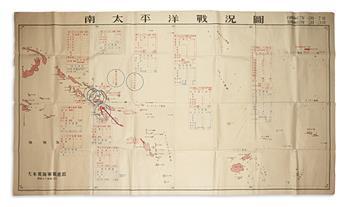 (WORLD WAR II.) Minami Taiheiyo Senkyo Zu.