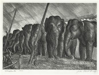 JOHN STEUART CURRY Circus Elephants.