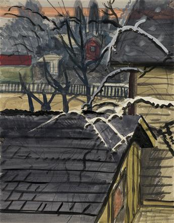 CHARLES BURCHFIELD Houses in Winter.