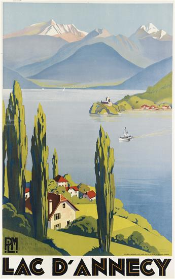 ROGER BRODERS (1883-1953). LAC DANNECY. 1930. 39x24 inches, 99x63 cm. Lucien Serre & Cie, Paris.