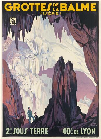 ROGER BRODERS (1883-1953). GROTTES DE LA BALME. Circa 1928. 41x31 inches, 106x78 inches, Marilhet & Vincent, Paris.