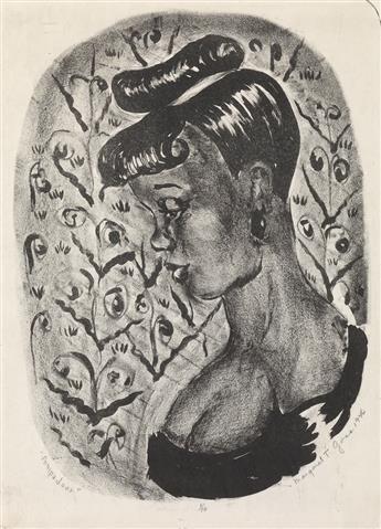 MARGARET BURROUGHS (1917 - 2010) Pompadour.