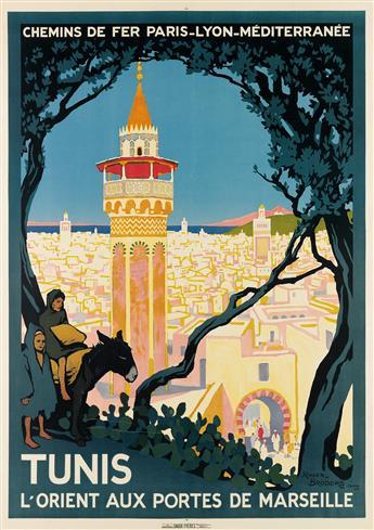 ROGER BRODERS (1883-1953). TUNIS. 1920. 42x30 inches, 108x76 cm. Daude Frères, Paris.