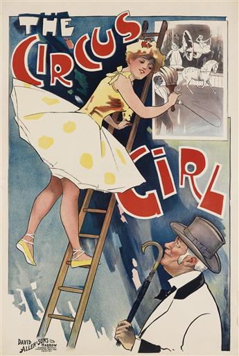 STEWART BROWNE (DATES UNKNOWN). THE CIRCUS GIRL. 1897. 30x20 inches, 76x50 cm. David Allen & Sons Ltd, Harrow.
