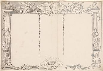 PIETRO ANTONIO NOVELLI (Venice 1729-1804 Venice) A Design for a Birth Register.
