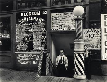 BERENICE ABBOTT (1898-1991) Blossom Restaurant, 103 Bowery, NYC.
