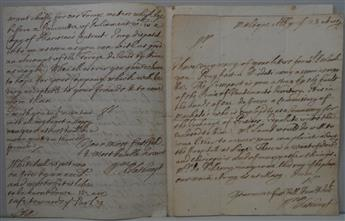 BLATHWAYT, WILLIAM. Two Autograph Letters Signed, WmBlathwayt, as Secretary at War, to unnamed recipients (Sir).