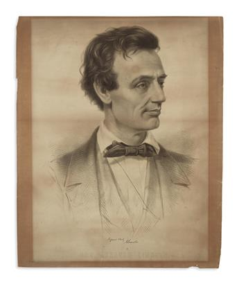 (PRINTS--1860 CAMPAIGN.) [Grozelier, after Hicks and Hesler.] Hon. Abraham Lincoln.