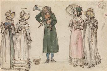 LOUIS-MARIE LANTÉ (Paris 1789-1871 Fontainebleau) Le Grimacier.