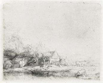 REMBRANDT VAN RIJN Landscape with a Cow.