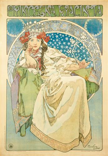 ALPHONSE MUCHA (1860-1939). PRINCEZNA HYACINTA. 1911. 50x35 inches, 127x90 cm. V. Neubert, Prague.