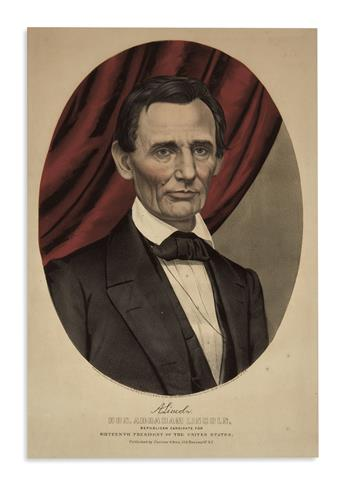 (PRINTS--1860 CAMPAIGN.) Hon. Abraham Lincoln, Republican Candidate for Sixteenth President of the United States.