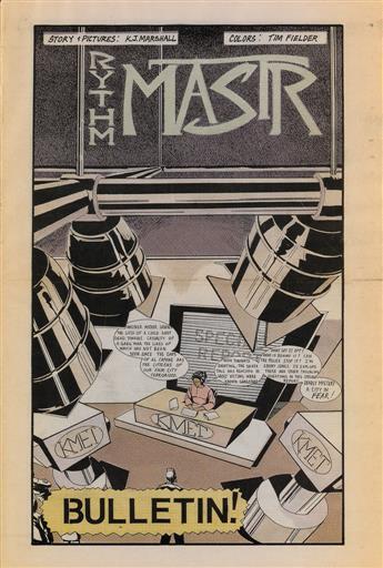 KERRY JAMES MARSHALL (1955 - ) Three issues of Rythm Mastr.