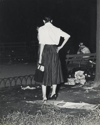 WEEGEE [ARTHUR FELLIG] (1899-1968) Girl with Problem.