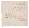 Civil War. JACKSON, STONEWALL. Autograph Letter Signed, T. J. Jackson / Brig Genl P.A.C.S.