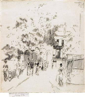 THÉODORE ROUSSEL Two etchings.