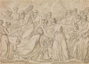 LOUIS FÉLIX DE LA RUE (Paris 1731-1765 Paris) A Scene of Pagan Sacrifice.