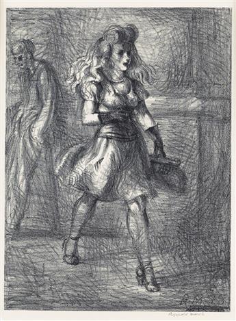 REGINALD MARSH Girl Walking (Elevated).