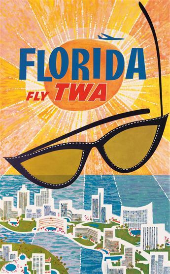 DAVID KLEIN (1918-2005). FLORIDA / FLY TWA. Circa 1960. 40x25 inches, 102x63 cm.