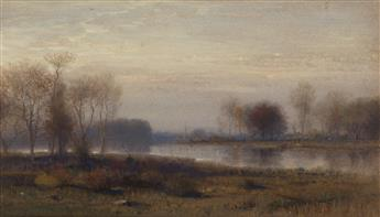 SAMUEL COLMAN Autumn Twilight: Farmington, Connecticut.