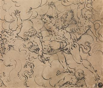 GERMAN SCHOOL, LATE 16TH CENTURY Demons Taking a Soul.
