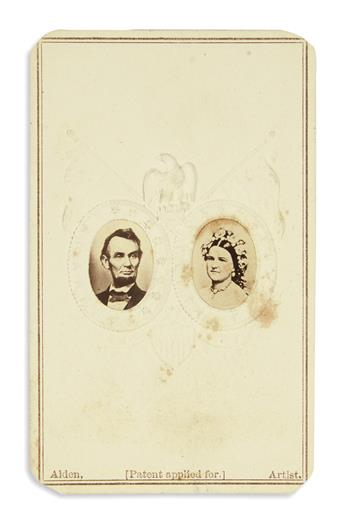 (PHOTOGRAPHY.) Group of 34 cartes-de-visites of Lincoln and his family.