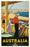 PERCY TROMPF (1902-1964). AUSTRALIA. 1929. 40x25 inches, 101x65 cm.