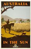 PERCY TROMPF (1902-1964). AUSTRALIA / IN THE SUN. Circa 1935. 40x25 inches, 101x65 cm. Troedel & Cooper, Melbourne.