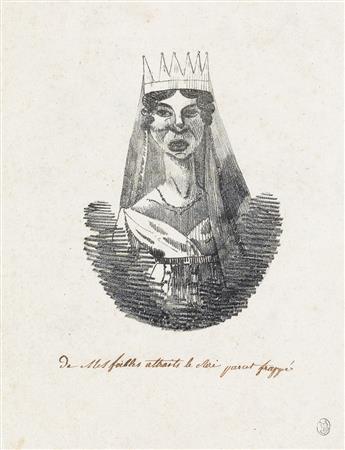 EUGÈNE DELACROIX (ATTRIBUTED TO) 2 lithographs.