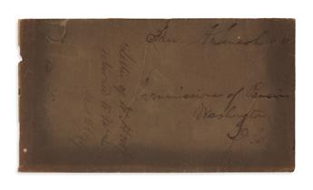 (AUTOGRAPHS.) Envelope franked by Lincoln as a congressman.