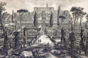 GIOVANNI B. PIRANESI Two etchings from the Vedute di Roma.