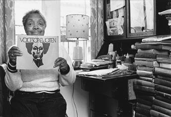 JOAN E. BIREN (1944 - )  Mabel Hampton at her desk.