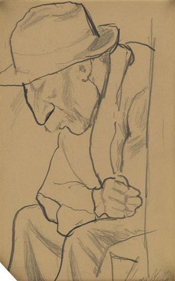 JOSEPH STELLA Portrait of a Man.