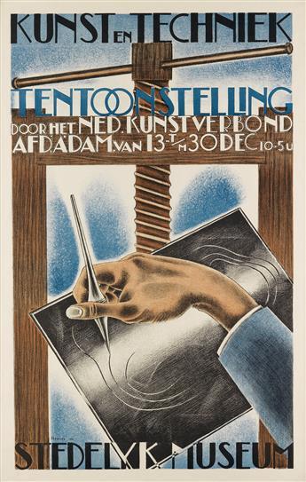 HENK A. HENRIET (1903-1945). KUNST EN TECHNIEK / TENTOONSTELLING. 1930. 32x21 inches, 83x56 cm.