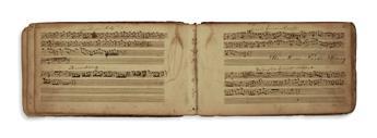 (MUSIC.) Pair of volumes of manuscript music.
