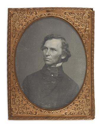 (MAINE.) Original daguerreotype photograph of Neal Dow.