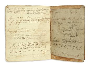 (NEW YORK--LONG ISLAND.) A family register and notebook kept by the Wright-Weekes family of Oyster Bay.