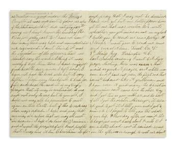 (CIVIL WAR--MAINE.) Horr, Calvin H. Letters of a deeply religious soldier during the closing months of the war.