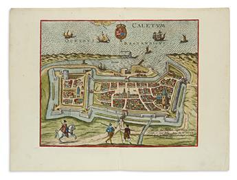 BRAUN, GEORG; and HOGENBERG, FRANZ. [Calais]. Caletum, Sive Calesium.