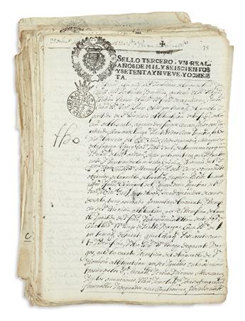 (MEXICAN MANUSCRIPTS.) Large group of manuscript legal documents.