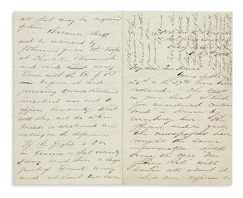 WE SHALL SMOKE THEM OUT OF THAT HOLE, RICHMOND (CIVIL WAR.) ADELBERT AMES. Autograph Letter Signed, AAmes,...