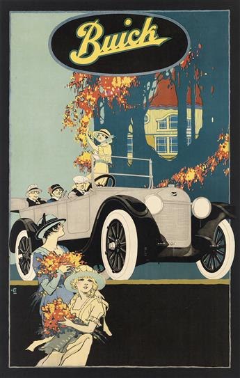 DESIGNER UNKNOWN. BUICK. Circa 1924. 39x25 inches, 99x63 cm.