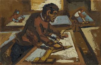 CLAUDE CLARK (1915 - 2001) Drafting.