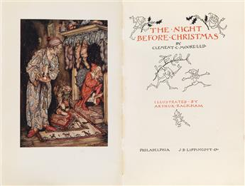 (RACKHAM, ARTHUR.) Moore, Clement C. The Night Before Christmas.